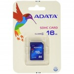 Карта памяти A-DATA 16GB SDHC class 4 (ASDH16GCL4-R)