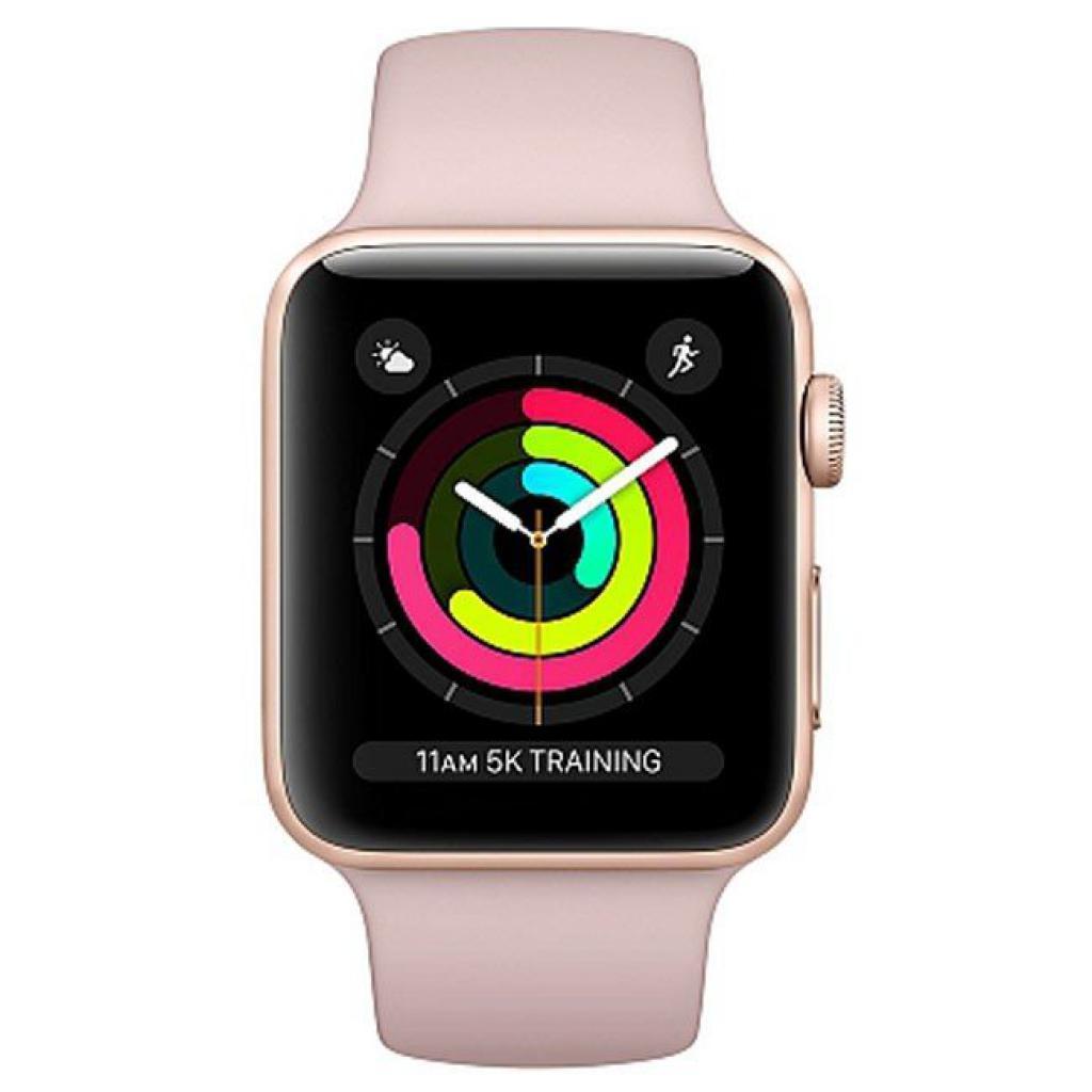 Смарт-часы Apple Series 3 GPS, 42mm Gold Aluminium Case with Pink Band (MQL22FS/A)
