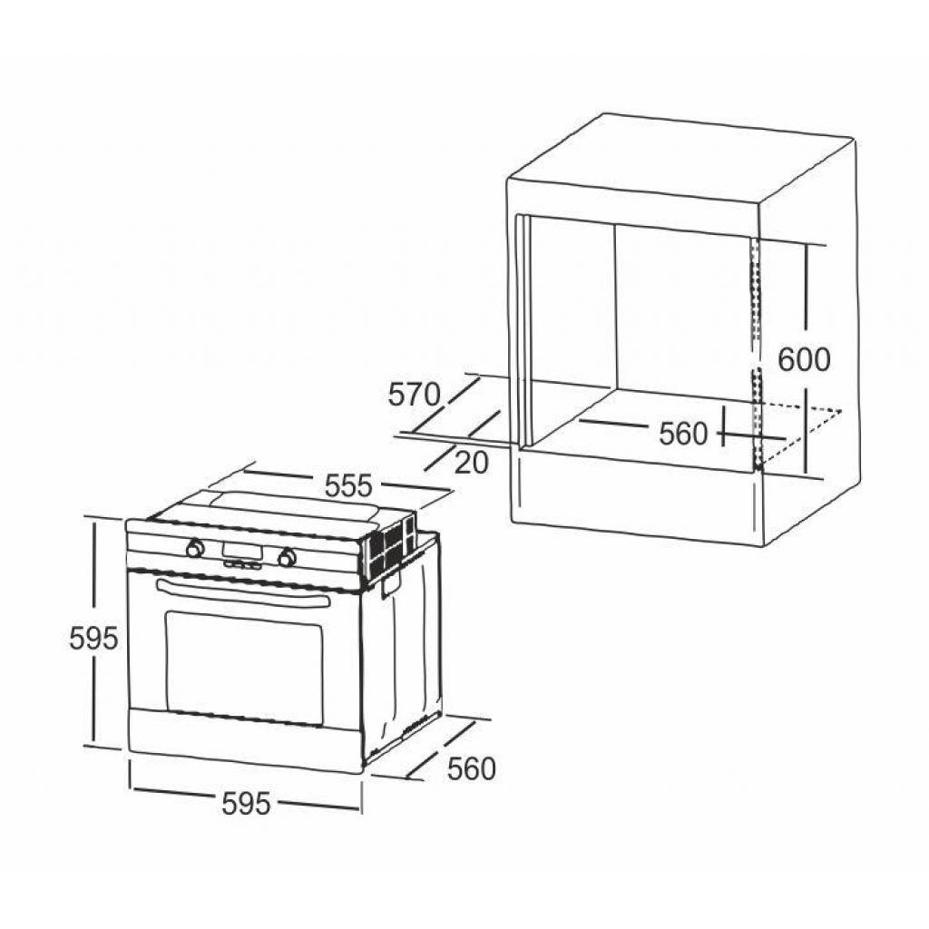 Духовой шкаф INTERLINE HK 400 BK