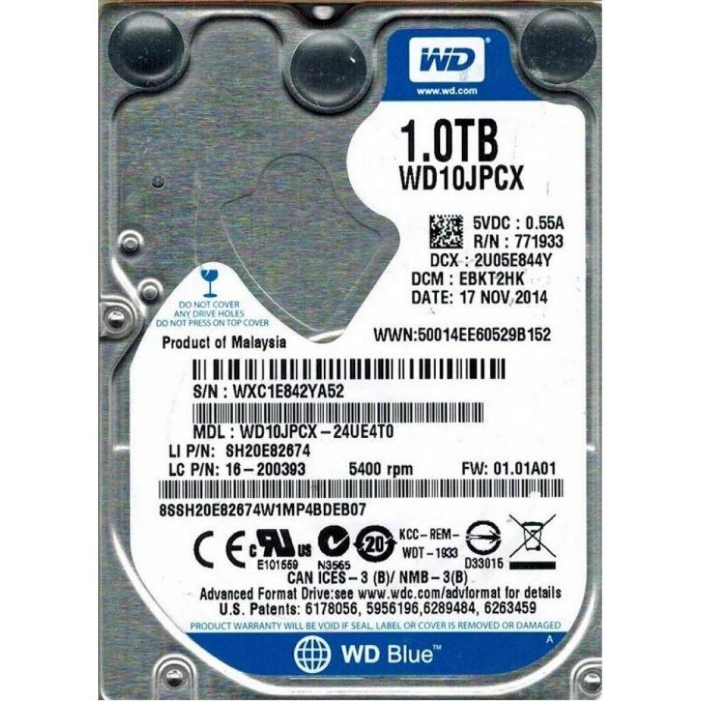"Жесткий диск для ноутбука 2.5"" 1TB Western Digital (WD10JPCX)"