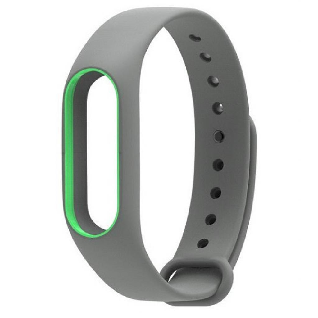 Ремешок для фитнес браслета Xiaomi Mi Band 2 Gray/Green (Р28605)