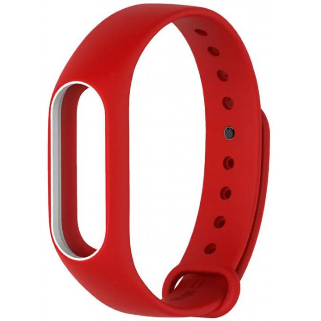 Ремешок для фитнес браслета Xiaomi Mi Band 2 Red/White (Р28380)