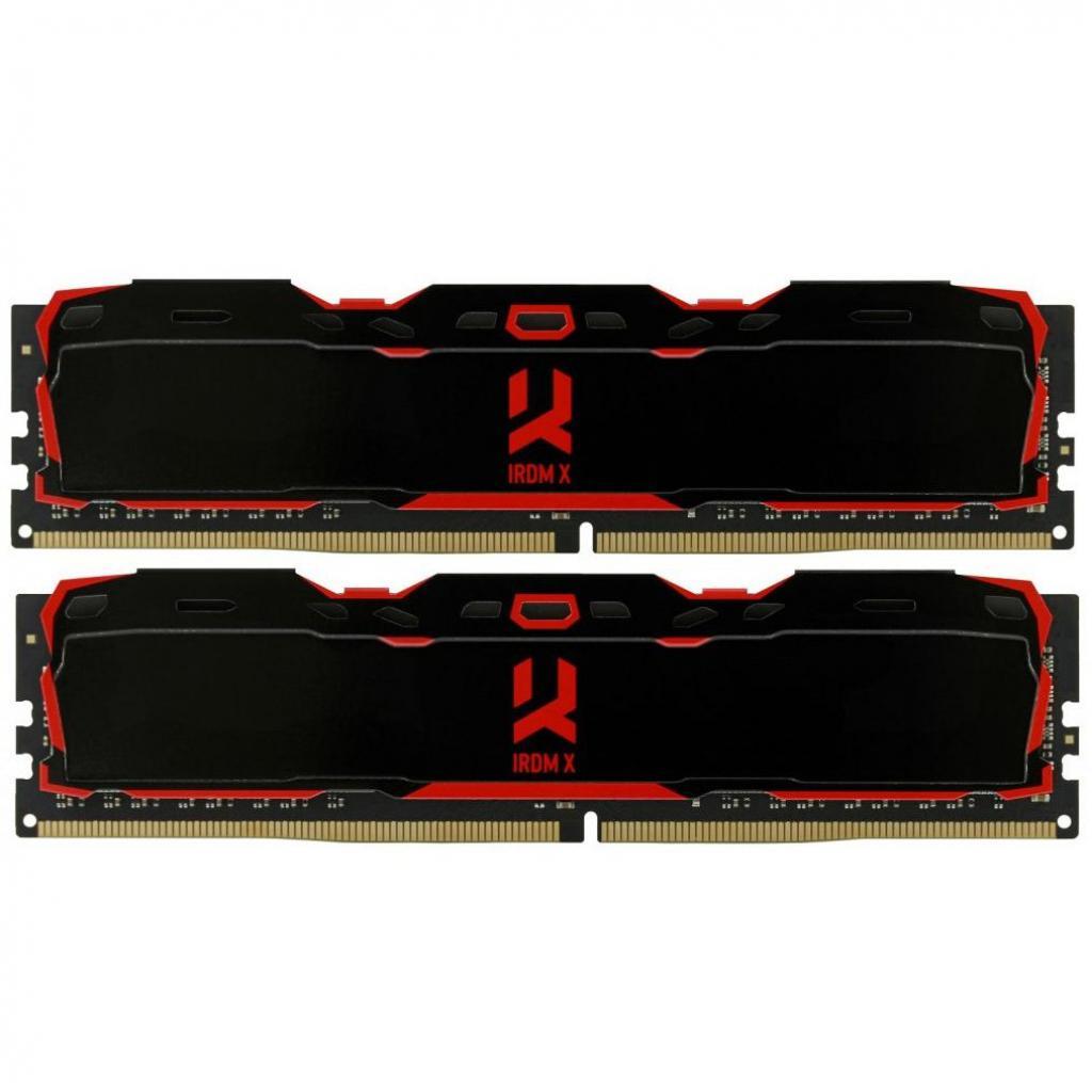 Модуль памяти для компьютера DDR4 16GB (2x8GB) 3000 MHz Iridium X Black GOODRAM (IR-X3000D464L16S/16GDC)