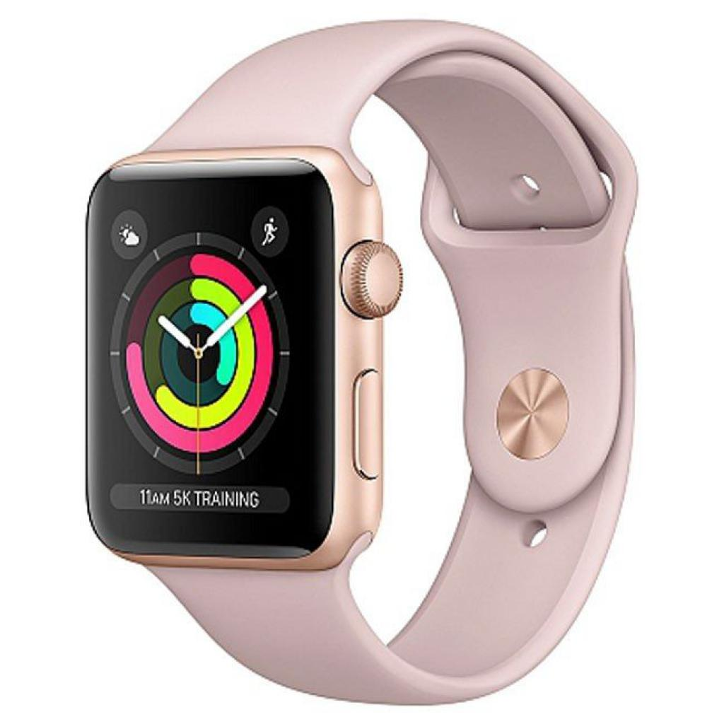 Смарт-часы Apple Series 3 GPS, 38mm Gold Aluminium Case with Pink Band (MQKW2FS/A)