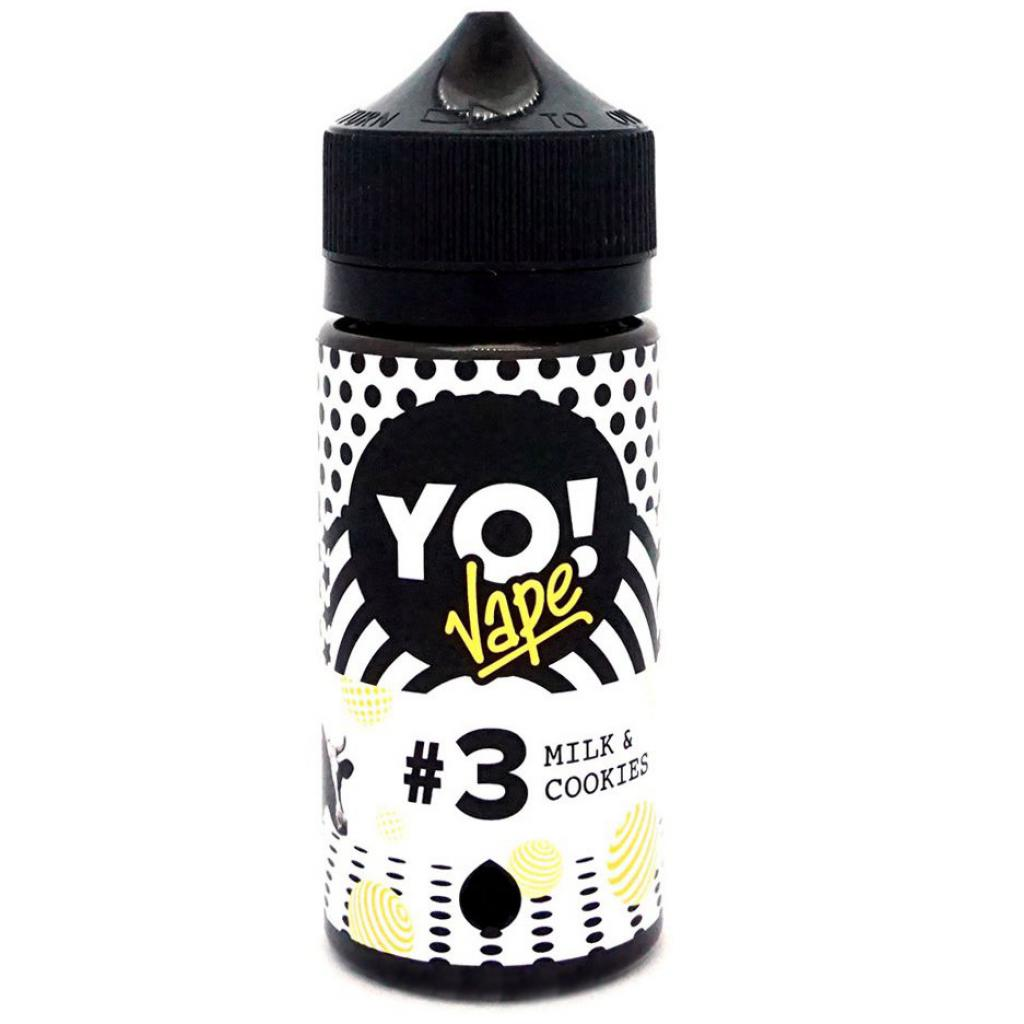 "Жидкость для электронных сигарет YO! Vape ""Milk and Cookies"" 3 мг 100 мл (YO-MAC-100-3)"