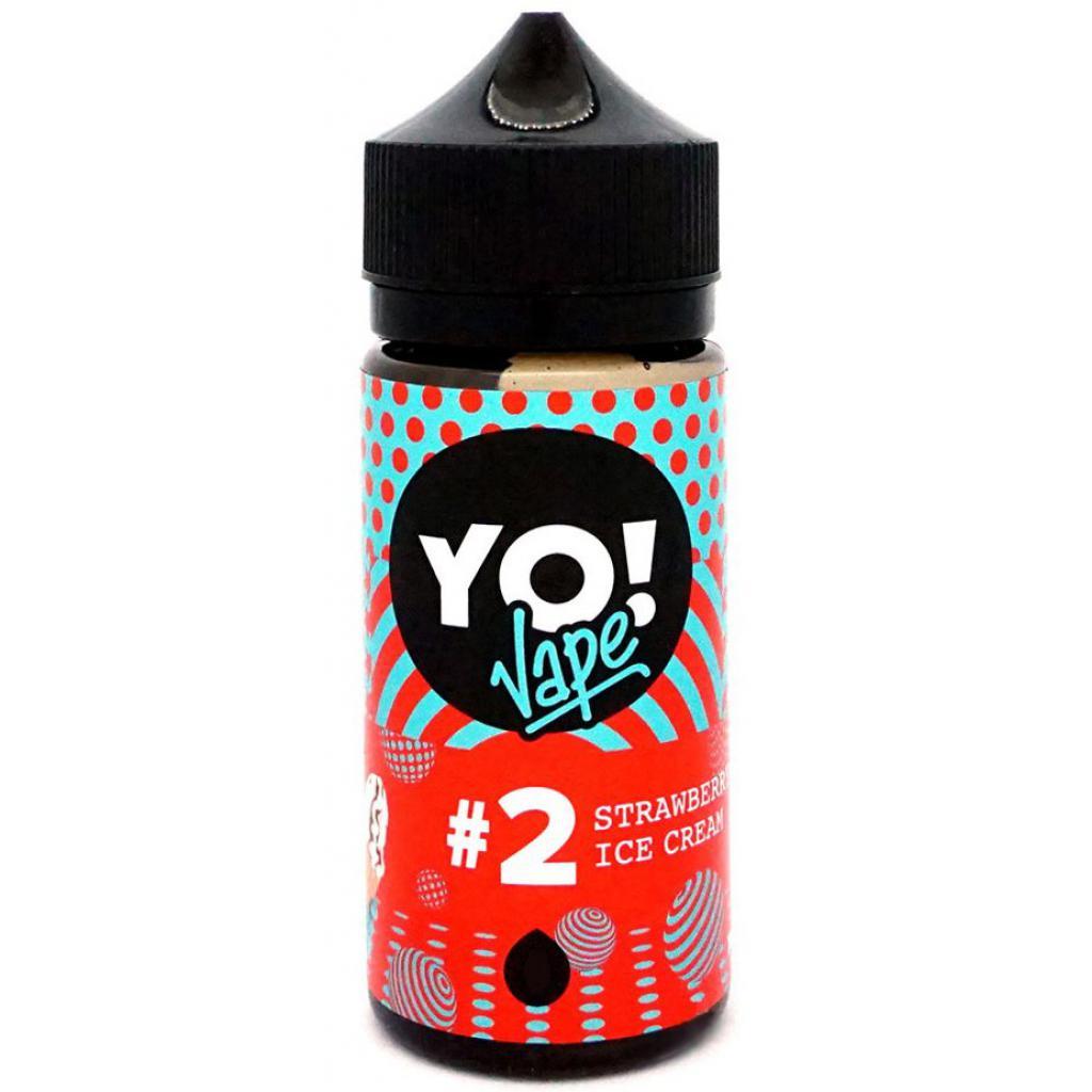 "Жидкость для электронных сигарет YO! Vape ""Strawberry Ice Cream"" 0 мг 100 мл (YO-SIC-100-0)"