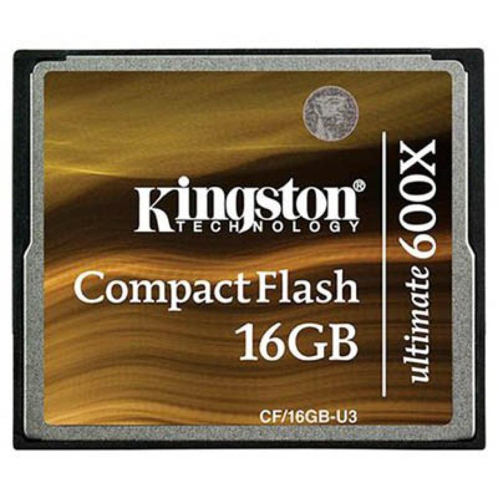 Карта памяти Kingston 16Gb Compact Flash 600x (CF/16GB-U3)