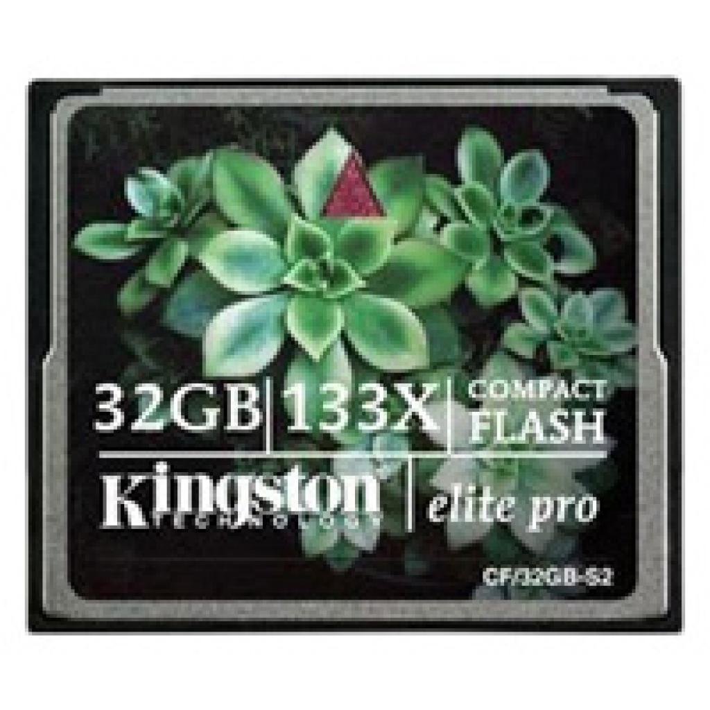 Карта памяти Kingston 32Gb Compact Flash 133x (CF/32GB-S2)