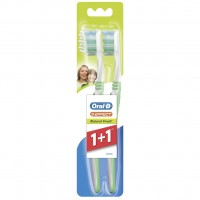 Зубная щетка Oral-B 3-Эффект Натуральная свежесть средняя 1 шт + 1 шт бесплатно (3014260022808)