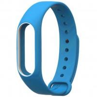 Ремешок для фитнес браслета Xiaomi Mi Band 2 Blue/White (Р28606)