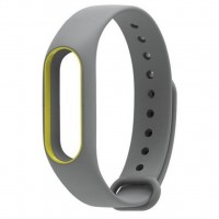 Ремешок для фитнес браслета Xiaomi Mi Band 2 Gray/Yellow (Р30879)