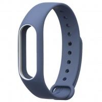 Ремешок для фитнес браслета Xiaomi Mi Band 2 Night Blue/White (Р28603)