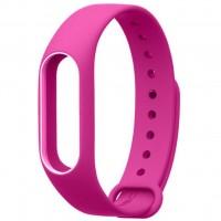Ремешок для фитнес браслета Xiaomi Mi Band 2 Pink/White (Р28601)
