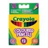 Набор для творчества Crayola 12 коротких цветных карандашей (4112)