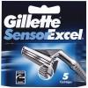 Сменные кассеты Gillette SENSOR Excel 5 шт (3014260244873)