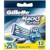 Сменные кассеты Gillette Mach 3 Turbo 12 шт (3014260298111)
