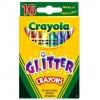 Набор для творчества Crayola 16 восковых мелков с блестками (52-3716)