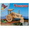 Сборная модель Мир деревянных игрушек Трактор (П078)