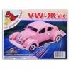 Сборная модель Мир деревянных игрушек Фольксваген Жук (П144с)