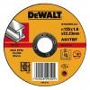 Диск DeWALT отрезной по металлу, 125х1.6х22.2мм. (DT42300)
