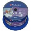 Диск DVD Verbatim 4.7Gb 16X CakeBox 50штWidePrintable (43512)